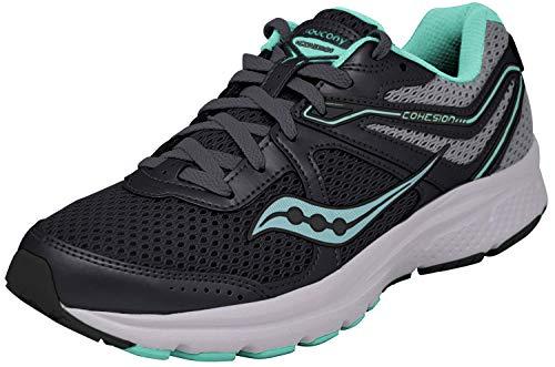 Saucony Women's Cohesion 11 Sneaker, Grey/Mint, 10 M US