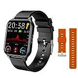 L B S Q26 Orologio intelligente da uomo e donna, Touch Screen Fitness Tracker, pressione sanguigna e monitoraggio della frequenza cardiaca informazioni promemoria per Android iOS (E)
