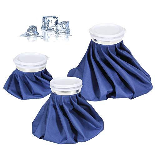 Kühlbeutel & Wärmflasche Set - Ohuhu 3 Größen warm und kalt Kühlpads, Wiederverwendbare Eisbeutel Kältetherapie für Fuß Knie - kühlbeutel Blau