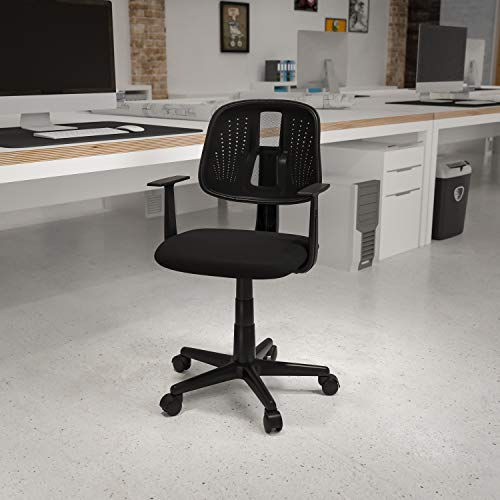 Flash Furniture Flash Fundamentals Mid-Back Black Mesh Swivel ...