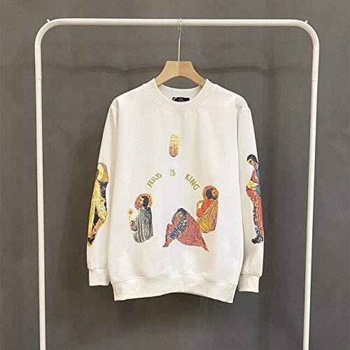 Sudadera con capucha de espuma 3D con texto en inglés 'Stranger Things', para hombre y mujer, forro polar, estilo hip hop, gran tamaño (color: blanco, talla: XL)