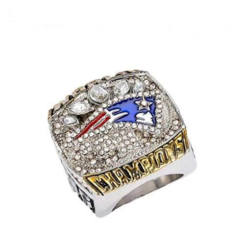 Super Bowl Rugby Patriot Championship Ring Footballsouvenir Ring Unique Uing Romantic Gift for Men