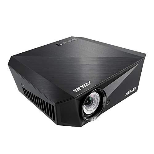 ASUS F1 Full HD Beamer (1200 Lumen, Kurzdistanz, Autofokus, Trapezkorrektur, drahtlose Projektion) schwarz