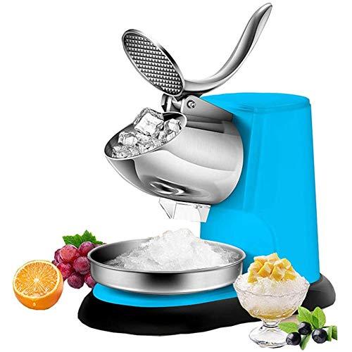 HIZLJJ Eiswürfelmaschinen, Eiszerkleinerer Shaved Eismaschinen Elektrische Ice Shaver Doppelklingen-Schnee-Kegel-Maschine große Kapazitäts-Eis-Crusher Shaving for Haus und gewerbliche Nutzung 300W 140