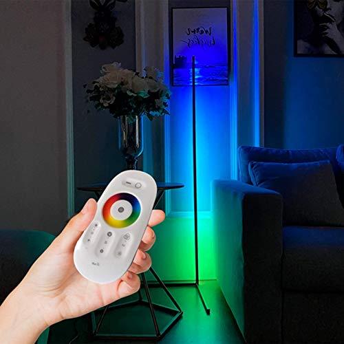 Izzya LED Stehlampe RGB Dimmbar Stehlampe, Regenbogen Projektion Lampe Veranda Farbe Ecke Dekorative Atmosphäre Leuchtet 55 Zoll Stehendes Licht,Schwarz