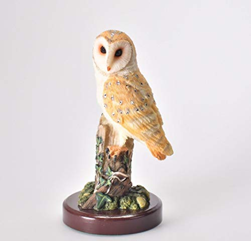 IXO/ALTAYA/ATLAS Figur Schleiereule mit Sockel Dekoration Vogel Statue