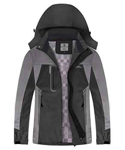 TOMSHOO Waterproof Jackets for Men Women Lightweight with Hood, Rain Jacket for Outdoor Ski Snow Mountain Cycling