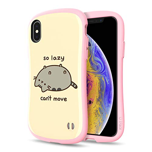 iFace x Pusheen First Class Designed for iPhone X/XS – Cute Shockproof Dual Layer [Hard Shell + Bumper] Case [Drop Tested] - So Lazy