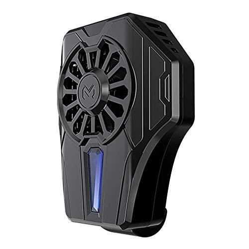 Verloco GSM-radiator, koelventilator voor mobiele telefoon, PUGB, USB-ventilator, licht en praktisch, koelbox met siliconen kussen, 80 x 64 x 35 mm