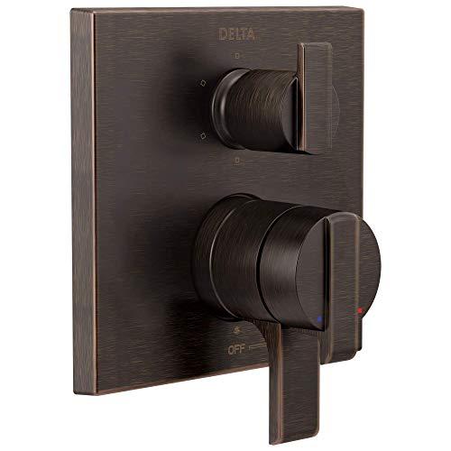 Delta Faucet T27967-RB, Venetian Bronze Ara Angular Modern Monitor 17 Series Valve Trim with 6-Setting Integrated Diverter