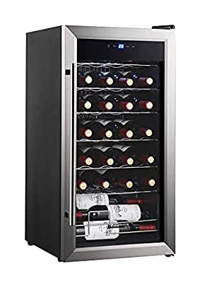 Kalamera KR-12A2E Silent 12 Bottles (up to 310 mm height) Wine fridge , temperature zones 10-18 °Touchscreen Wine Cooler, Wine refrigerator, Black,countertop. from Kalamera