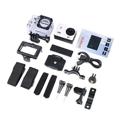 #N/V Cámara de acción 4K 16MP Vision 3 subacuática impermeable gran angular WiFi Sports Cam con kit de accesorios de montaje