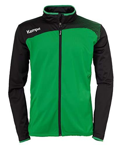 Kempa Emotion Classic - Giacca sportiva da adulto, colore: verde/nero, S