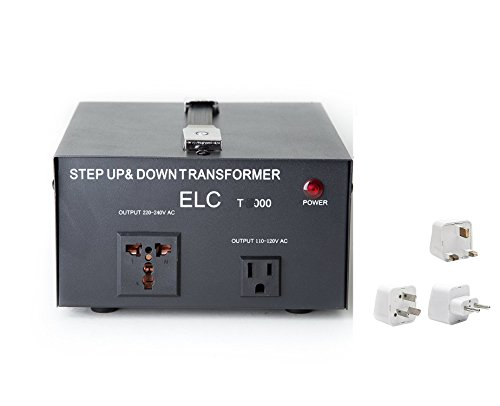 2000 Watt Best International Power Voltage Converter Transformer - Step Up/Down - 110V/220V - with Worldwide UK/US/AU/EU European Plug Adapter - 2 Outlets
