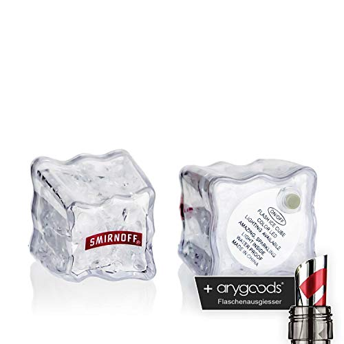 Smirnoff Eiswürfel Ice Led leuchtend Junggesellenabschied Party Gastro Bar Deko NEU + anygoods Flaschenausgiesser