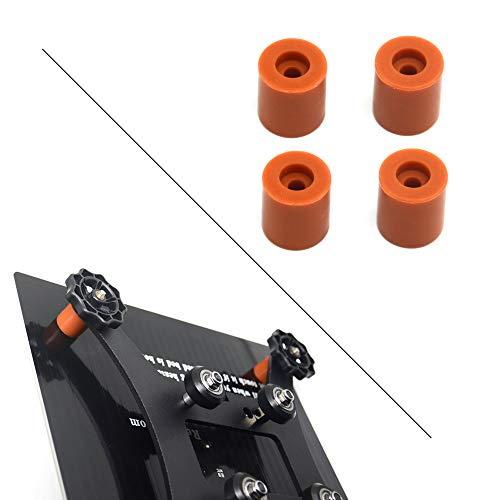 Befenybay 4PCS colonna di livellamento in silicone Heatbed e stabile strumento per letto caldo resistente al calore tampone in silicone per stampante 3D (altezza 18 mm)