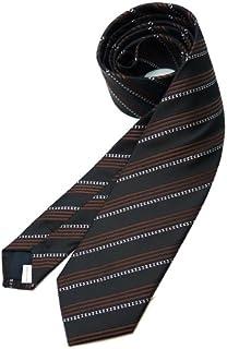 メンズ ネクタイ シンプル ストライプ ビジネス スーツ ステージ 衣装 スリムネクタイ ブラウン 茶色[ne76]swan01