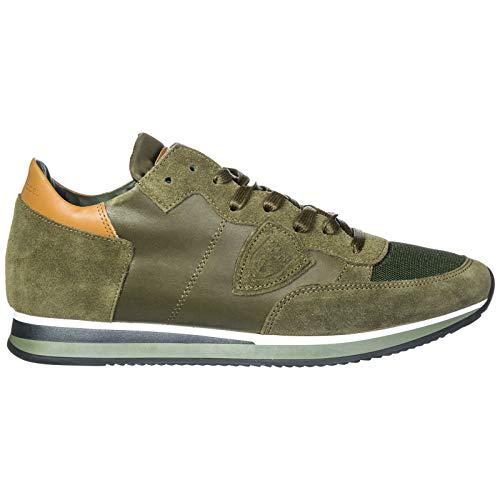 Philippe Model Herrenschuhe Herren Wildleder Sneakers Schuhe Tropez Grün EU 42 A18ITRLUWZ64