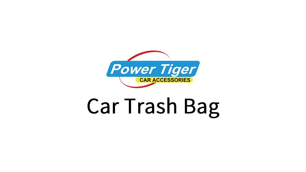 PowerTiger Auto Mülleimer, KFZ Abfalleimer Wasserdicht Abfallbehälter Auslaufsicher Autositztasche für Müll, Schwarz 6…
