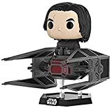 Funko-20154 Star Wars Kylo REN w/Tie Fighter Pop Deluxe, Multicolor, 10 cm (20154)