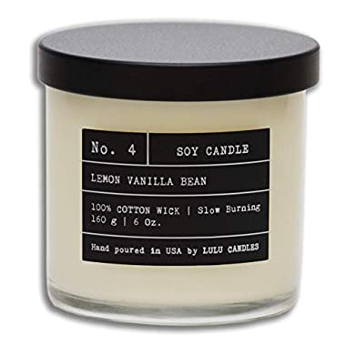 Lemon Vanilla Bean | Luxury Scented Candles | Hand Poured in The USA | Organic Therapy Candles | Highly Scented & Long Lasting | Soy Candles | 170 g