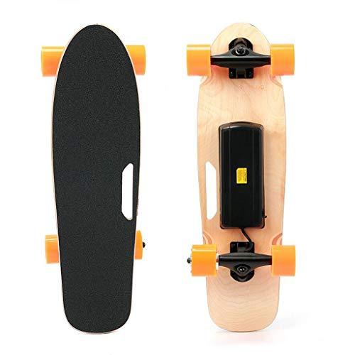 Elektrisches Skateboard mit Fernbedienung Longboard 7 Schichten Kanadischer Ahorn E-Skateboard for Kinder Mädchen Jungen Teens Erwachsene Jugendliche, DREI-Gang-Adjustable