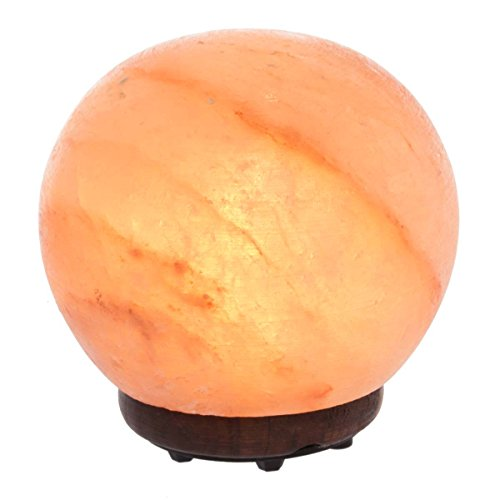 """Simply Genius Himalayan Salt Lamps with Dimmer, 5.5"""" Natural Crystal Rock Sphere with Salt Lamp Bulb and Salt Lamp Cord, Salt Lamp Night Light For Bedrooms, 8-10 lbs"""