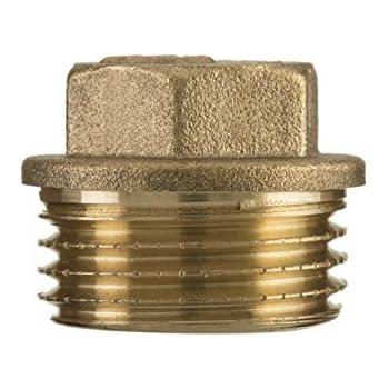 "1/2""pulgada rosca bsp hexagonal tornillo tubo de latón macho Tapón obturador extremo del tubo conector"