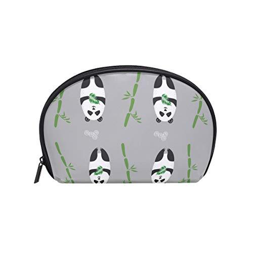 Sac cosmétique avec fermeture à glissière mignon ours Panda bambou sac de rangement de voyage d'embrayage maquillage sac pochette organisateur cas pour les femmes
