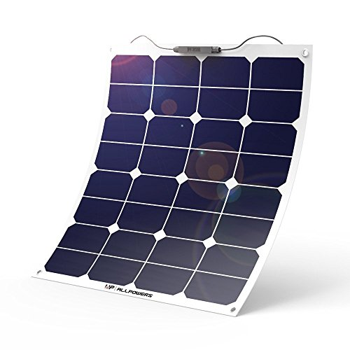 ALLPOWERS Solar Panel 18V 12V 50W Solarmodul SunPower Solarladegerät Flexibel Solarzelle mit Ladekabel für Wohnmobil, 12V Batterien, Wohnmobil, Auto, Boot