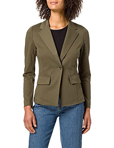 United Colors of Benetton (Z6ERJ) Giacca 2BY652414, Verde Militare 35A, 50 Donna