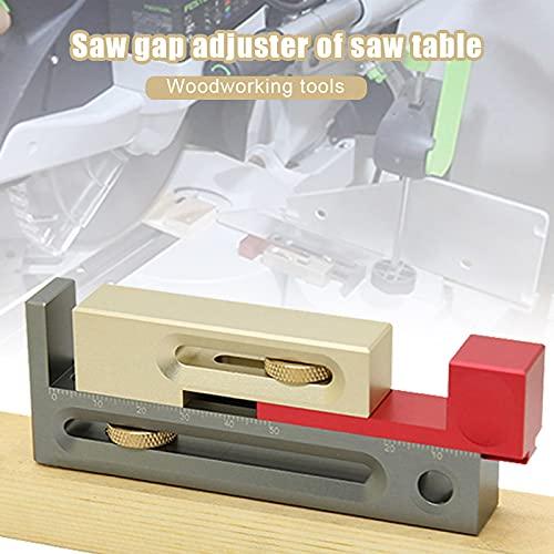 WZDTNL Medidor de brecha para carpintería, ajuste de ranura para sierra, herramienta de medición de instrumento de medición de dientes de sierra de profundidad para carpintero