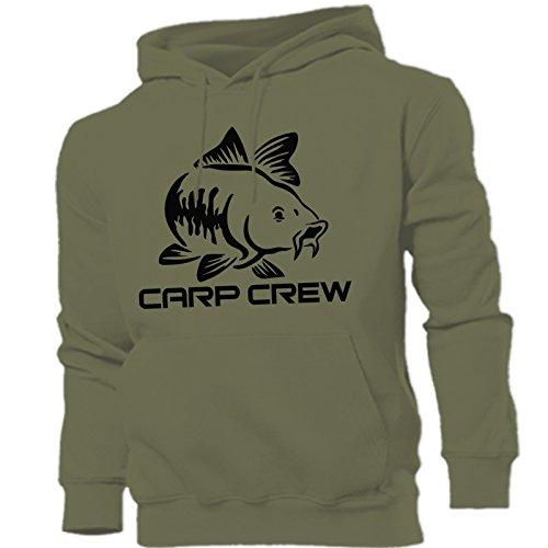 Carp Crew Hunter Kapuzenpulli, Angeln, ideal als Geburtstags-, Vatertags-, Weihnachtsgeschenk, olivgrün