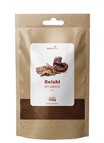 Polvere pura Reishi 125gr 100% Organic Carefood | Ganoderma lucidum funghi da colture biologiche certificate | Superfood Carefood