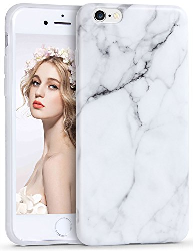 iPhone 6 Plus Marmor Hülle, Imikoko® Matt Weich Silikon Handyhülle Malerei Schlank TPU Bumper HandyTasche Flexible Schutzhülle Soft Back Cover Handykasten Protective Gummi Dünn für iPhone 6s Plus