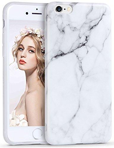 Imikoko® Marmor Hülle für iPhone 6/6s Matt Weich Silikon Marmor Handyhülle Schlank TPU