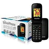 Biwond 51618 - Teléfono Personas Mayores, Color Negro