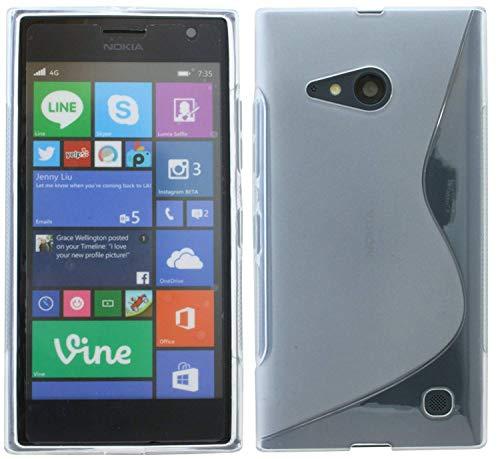 ENERGMiX S-Line TPU SchutzHülle kompatibel mit Nokia Lumia 735 Silikon Hülle in Transparent
