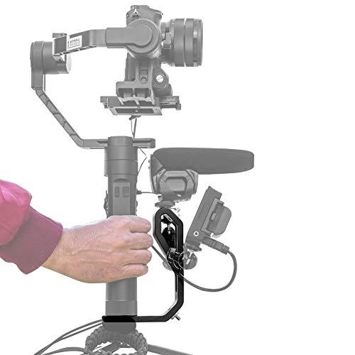 Adattatore cardanico palmare per Montaggio di monitor, Microfoni e Accessori per DJI Ronin-S, Zhiyun Crane 2, Crane Plus, V2, Crane M, Moza Air e molti altri -A Mini Dual Grip