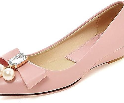 DFGBDFG PDX femme Chaussures Chaussures Talon Plat Bout Pointu apparteHommests Bureau & carrière robe décontracté Noir vert rose blanc  commander en ligne