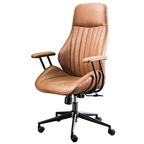 XIZZI Ergonomic Chair Office Computer Chair Executive High Back Home Office Desk Chairs with Armrest Lumbar Support (Brown)