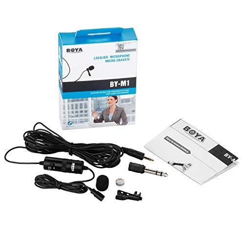 Boya by-m1 microfono lavalier da 3.5 mm per smartphone e Canon Nikon fotocamera, a condensatore omnidirezionale Lavalier Lapel Microfono