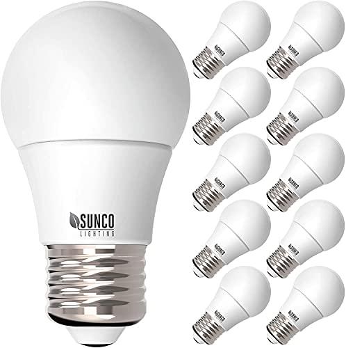 Sunco 8 Watt (60 Watt Equivalent) 6000 Kelvin LED Light Bulbs