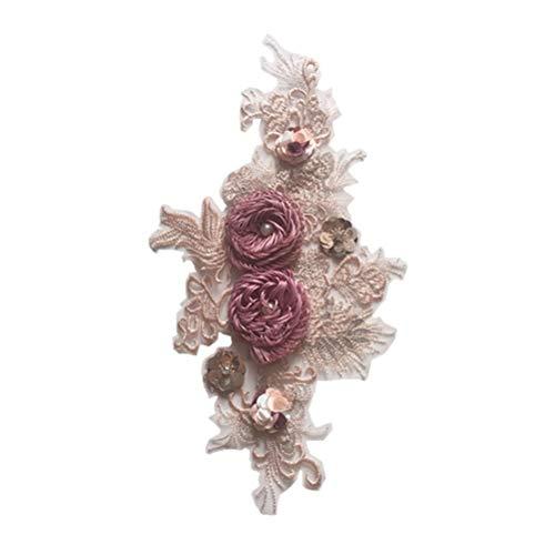 Healifty Ropa de Flores Parche de Bordado DIY Floral Coser Parche de Hierro en Parches para la Ropa de Costura Zapatos de Bolso