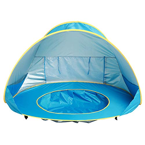 Upf 50+ Pop Up Beach Tent, Portable Baby Sun Shelter Uv Protection & Waterproof Windproof Beach Shade Sun Tent for Kids