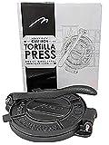Heavy Duty Pre-seasoned Cast Iron 8 Inches Maquina Tortilla Press Roti Pita Pataconera with Tortilla...