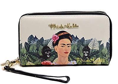 Frida Kahlo Around Zip Wallet with Wristlet, Monkeys Collection