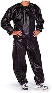 Negro XL Libertroy Impermeable a Prueba de Viento PVC Sauna Traje Anti-Rip Entrenamiento Fitness P/érdida de Peso Deporte Sauna Ropa Color s/ólido Traje de Gimnasio