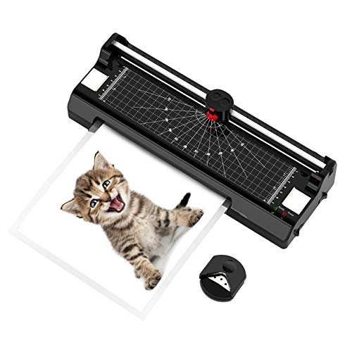 Modern-Depo 9 Inch 5 in 1 Laminator Machine for A4, Cold & Hot Laminator Machine with Laminator Sheets, Paper Trimmer and Corner Rounder for Home Office School Use