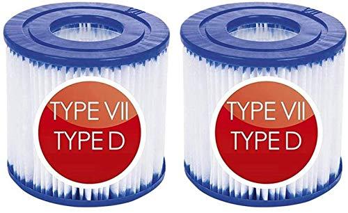 LOWW Cartucho de filtro para piscina tipo VII & D, para Bestway...